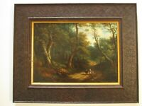 PATRICK NASMYTHE  PAINTING EARLY 19TH CENTURY LANDSCAPE PAINTING W FIGURES OLD