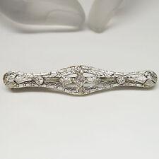 Filigrane Art Deco Brosche mit ca. 0,30ct Diamant in 585/14K Weiß-/Gelbgold