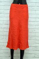 Gonna ARMANI Donna Taglia Size 38 Shorts Skirt Woman Cotone Vita Alta Rosso