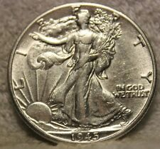 1945DAU walking liberty half dollar