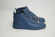Balenciaga Women's Arena High Top Sneakers - Blue Leather - Size 6US / 36  (R63)
