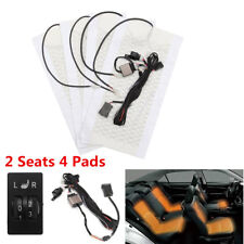Universal 2-Dial 5-Level Switch Kit 2 Seat 4 Heated Pad Carbon Fiber Seat Heater