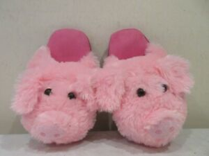 UNBRANDED PINK PIG THEME SLIP ON MULE SLIPPERS UK 4 (S)