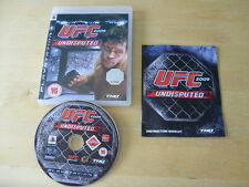 PLAYSTATION 3 GAME  UFC UNDISPUTED 2009        *FREE UK P&P*