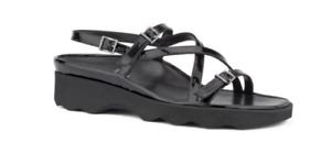 Thierry Rabotin Wave Black Patent Comfort Sandal Women's Sizes 36-42/6-12/NEW!!