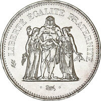 Pièce Argent France 50 francs Hercule années variées (1974-1979)