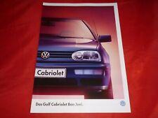 """VW Golf III Cabriolet """"Bon Jovi"""" Sondermodell Prospekt Brochure Depliant 1996"""