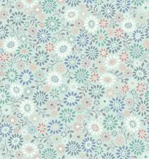 BLUE ALL AROUND DAISY BY LEWIS & IRENE - COTTON FABRIC FQ
