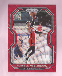 2020/21 Panini Prizm RUSSELL WESTBROOK Red Wave Prizm Mint Rockets
