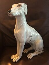 Vintage Mcm Italian Terracotta Dog Greyhound Whippet Large Dog Statue 18�