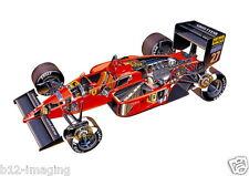 Ferrari 1987 F1 alboreto motorsport en coupe large promo poster
