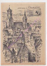 CP ART TABLEAU LUDWIG SCHAFER GROHE Stuttgart ANNO 1944 n58