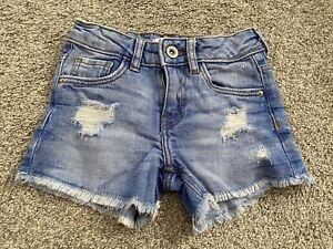 Girls Zara Kids Denim Jean Shorts Age 5