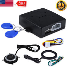 Car Ignition Switch 12V RFID Engine Start Push Button Keyless Entry Starter Kit