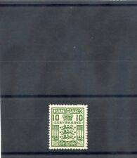 DENMARK Sc I2(MI VE15)**F-VF NH 1926 10o GREEN, LATE FEE STAMP, P 14 X 141/2 $33