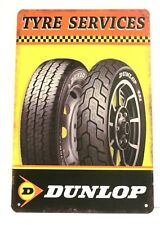 Dunlop Tyres Tire Tin Metal Sign Poster Vintage Style Man Cave Garage Speed Shop