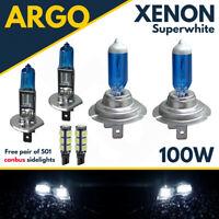 H1 H7 W5W 100w Xenon Hid Super White Upgrade Set Head Light Bulbs Vauxhall 12v