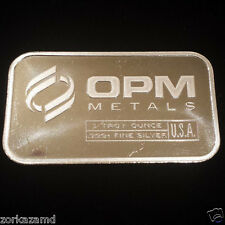 Ohio Precious Metals (OPM) 1 Ounce .999 Fine Silver Bullion Bar