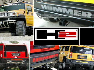 DKM | REAR BUMPER INSERTS CHROME FOR HUMMER H2 REAR LETTERS NOT DECALS