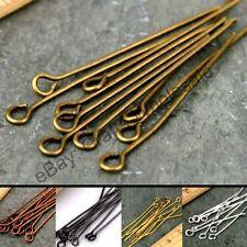 Wholesale 100Pcs Silver/Golden Head Eye Ball Style Pin Jewelry Findings 16-70MM