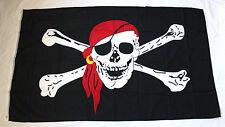 Hiss - Flagge PIRAT mit Tuch 150x90cm Polyester Piratenflagge