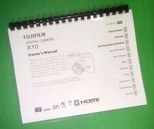 LASER PRINTED Fujifilm X Compact X10 X-10 Camera 148 Page Owners Manual Guide