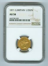 1871 Great Britain 1/2 Sovereign NGC AU58