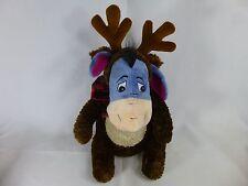 Disney Store Exclusive Christmas Eeyore As A Reindeer Scarf Plush Toy Animal