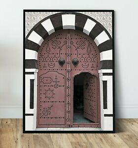 Moroccan lux - Doorway print,  Wall Art Print, Canvas A4,A3,A2,A1,A0, On trend