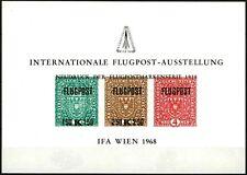 1968 AUSTRIA ÖSTERREICH  IFA WIEN  NEUDRUCK FOGLIETTO ESPOSIZIONE PERFETTO