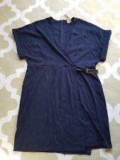 NWT Asos Faux Wrap knit Dress Navy Blue size 14 US, L