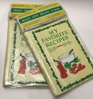 Vintage Recipe Album Lot Of 2 Magic Grip Chadwick Miller 1970 Protects Save MCM