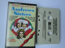 CHRISTMAS WITH THE ANDREW SISTERS CASSETTE, + BING CROSBY/DANNY KAYE, 1988 MCA.