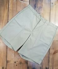 """Dickies Men's Shorts Size 42 Khaki 10"""" Flat Front Work Non Stain Wrinkle New d"""
