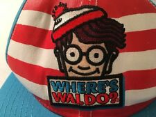 Where's Waldo Red White Blue Hat Striped Stripes Flat Snapback Snap Back Cap