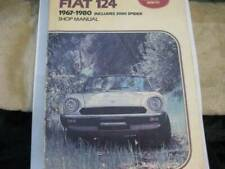 Fiat 124 Coupe Spider and 2000 Spider Includes Turbo Spider 1971-198 - VERY GOOD