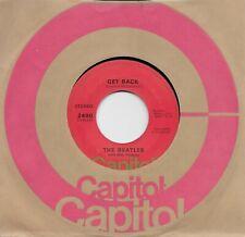 THE BEATLES  Get Back / Don't Let Me Down  45 ORANGE Capitol label