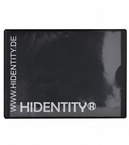 2 X RFID Hidentity Duo- Data Protective Cover for A Card - Black