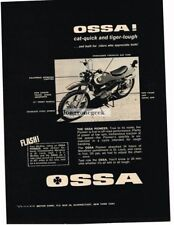 1968 OSSA Pioneer Motorcycle Vtg Print Ad