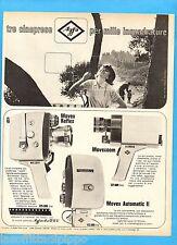 QUATTROR964-PUBBLICITA'/ADVERTISING-1964- AGFA MOVEX REFLEX/ZOOM/AUTOMATIC II