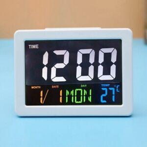 LED Display Indoor Digital Large Wall Clock Jumbo Temperature Calendar Date New