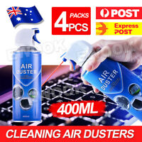 4 x 400ml Compressed Air Duster Spray Can Laptop Keyboard Mouse Cleaner AU