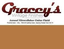 -Firemist Gold- Gracey's Vintage Finishes Nitrocellulose Guitar Lacquer Aerosol.