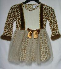 Jillian's Closet giraffe costume dress with layered skirt and tail size 4T