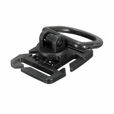 Tactical Molle ROTARY 360 DEGREE D-RING / CLIP x1 PIECE - BLACK - ROTATION - NEW