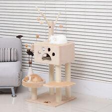 "47"" Cat Tree Kitten Tower Scratching Post Scratcher W/ House Condo Pet Play"