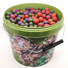 CARP FISHING 3kg MIXED BOILIES WITH 5L CAMO BAIT BUCKET BOILIE OFF CUTS FISHMEAL