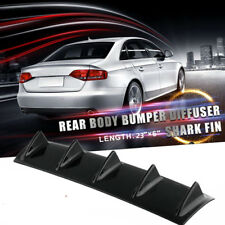 Abs Plastic Universal Black Rear Bumper Lip Chassis Diffuser Spoiler 5 Fin Shark Fits Saturn Aura