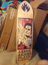 Black Label Jason Adams Johnny Cash Skateboard Deck Natural Stain Natty New