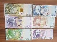 Reproductions Albania 500 Leke 1947 UNC